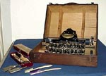 Typewriter, case, and tools, from our collection, click here for larger image