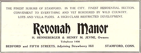 Revonah Manor ad
