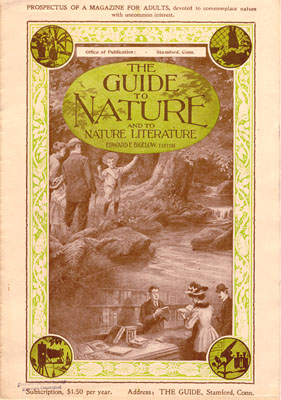 Guide to Nature Magazine,  prospectus cover