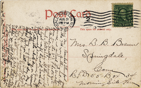 back of postcard above