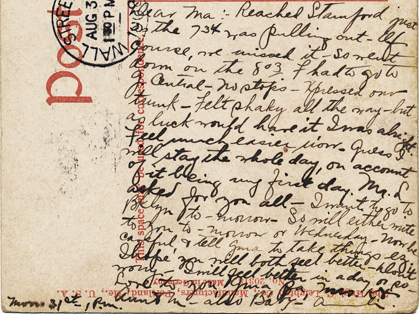 message on the postcard
