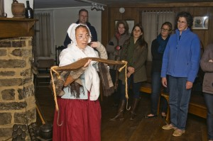 Stamford Historical Society tour of 1699 Hoyt Barnum House